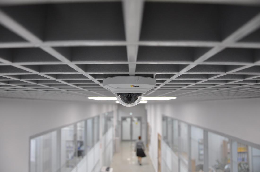 установка камер видеонаблюдения в офисе